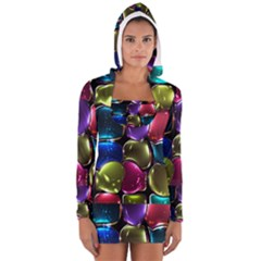 Stained Glass Women s Long Sleeve Hooded T-shirt