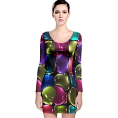 Stained Glass Long Sleeve Velvet Bodycon Dress
