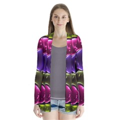 Stained Glass Drape Collar Cardigan