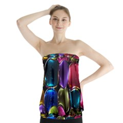 Stained Glass Strapless Top