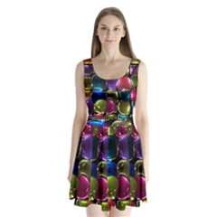 Stained Glass Split Back Mini Dress