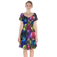 Stained Glass Short Sleeve Bardot Dress