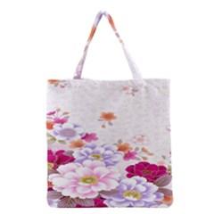 Sweet Flowers Grocery Tote Bag