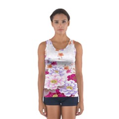 Sweet Flowers Women s Sport Tank Top