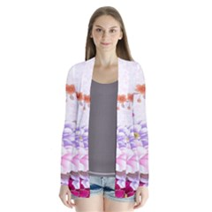 Sweet Flowers Drape Collar Cardigan