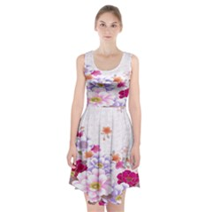Sweet Flowers Racerback Midi Dress