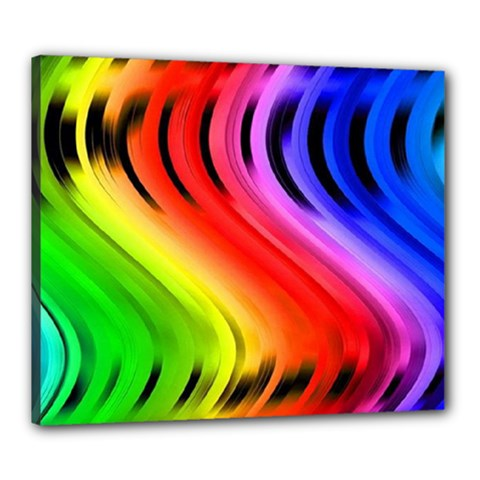 Colorful Vertical Lines Canvas 24  x 20