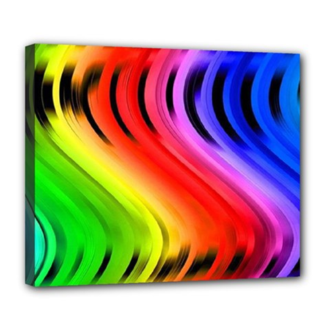 Colorful Vertical Lines Deluxe Canvas 24  X 20