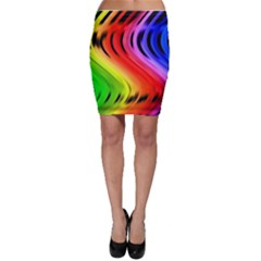 Colorful Vertical Lines Bodycon Skirt