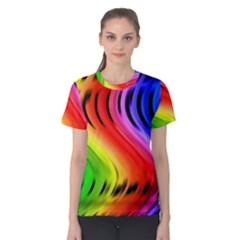 Colorful Vertical Lines Women s Cotton Tee