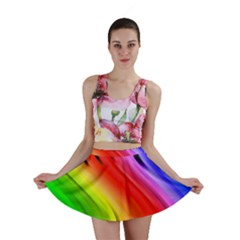 Colorful Vertical Lines Mini Skirt