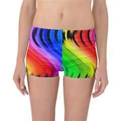 Colorful Vertical Lines Boyleg Bikini Bottoms
