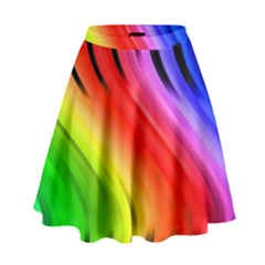 Colorful Vertical Lines High Waist Skirt