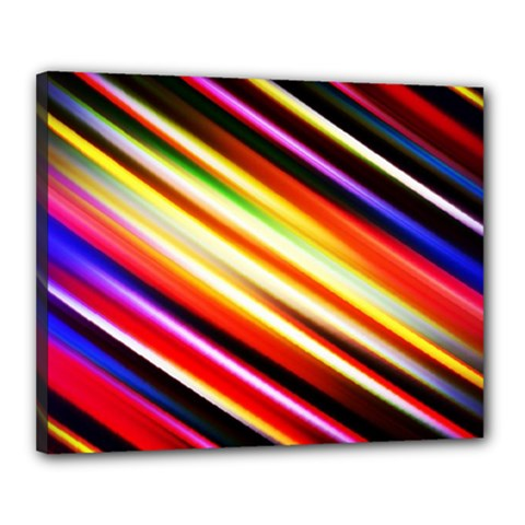 Funky Color Lines Canvas 20  x 16