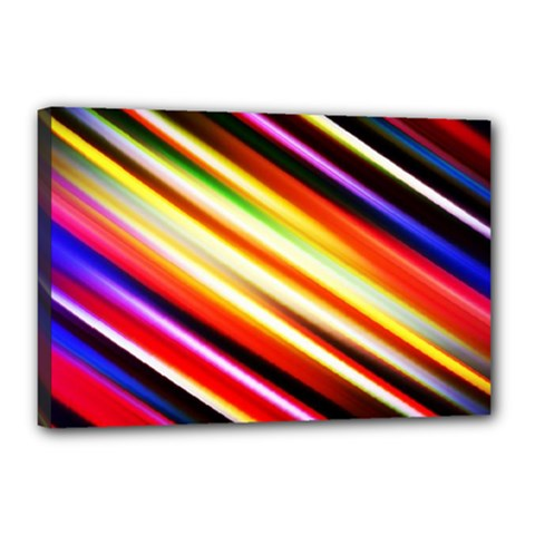 Funky Color Lines Canvas 18  X 12
