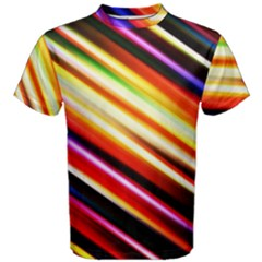 Funky Color Lines Men s Cotton Tee