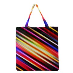 Funky Color Lines Grocery Tote Bag