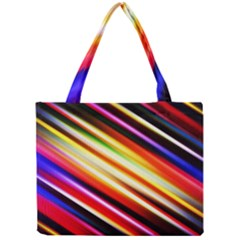 Funky Color Lines Mini Tote Bag