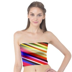 Funky Color Lines Tube Top