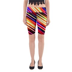 Funky Color Lines Yoga Cropped Leggings
