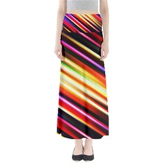 Funky Color Lines Full Length Maxi Skirt