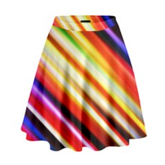 Funky Color Lines High Waist Skirt