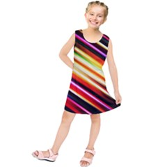 Funky Color Lines Kids  Tunic Dress