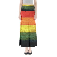 Five Wall Colour Full Length Maxi Skirt