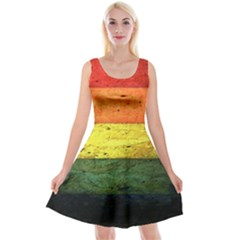 Five Wall Colour Reversible Velvet Sleeveless Dress