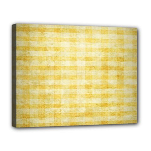 Spring Yellow Gingham Canvas 14  X 11