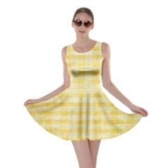 Spring Yellow Gingham Skater Dress