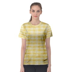 Spring Yellow Gingham Women s Sport Mesh Tee