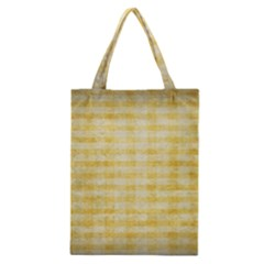 Spring Yellow Gingham Classic Tote Bag