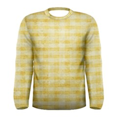 Spring Yellow Gingham Men s Long Sleeve Tee