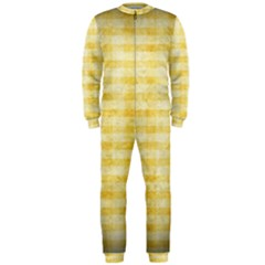 Spring Yellow Gingham OnePiece Jumpsuit (Men)