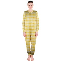 Spring Yellow Gingham OnePiece Jumpsuit (Ladies)
