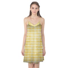 Spring Yellow Gingham Camis Nightgown