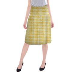 Spring Yellow Gingham Midi Beach Skirt