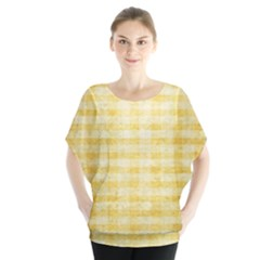 Spring Yellow Gingham Blouse