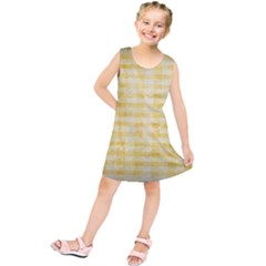 Spring Yellow Gingham Kids  Tunic Dress