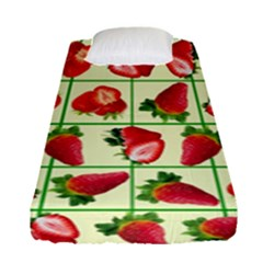 Strawberries Pattern Fitted Sheet (single Size)