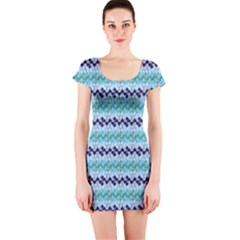 Geometric Pattern 220 V2 C2 170409 Short Sleeve Bodycon Dress