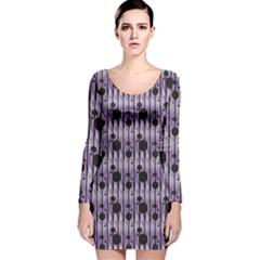 Geometric Pattern 204 C2 170331 Long Sleeve Velvet Bodycon Dress