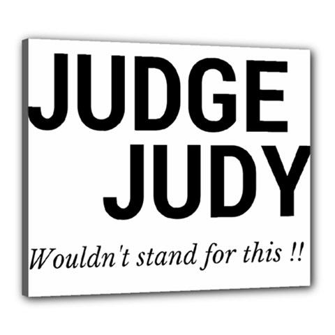 Judge Judy Wouldn t Stand For This! Canvas 24  X 20