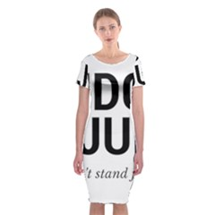 Judge judy wouldn t stand for this! Classic Short Sleeve Midi Dress