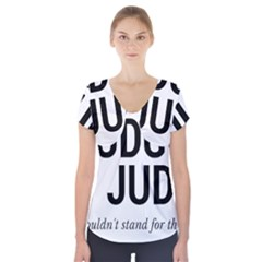 Judge judy wouldn t stand for this! Short Sleeve Front Detail Top