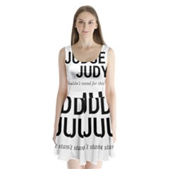 Judge judy wouldn t stand for this! Split Back Mini Dress