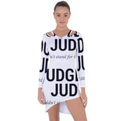 Judge Judy Wouldn t Stand For This! Asymmetric Cut Out Shift Dress