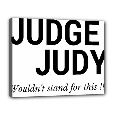 Judge judy wouldn t stand for this! Canvas 14  x 11