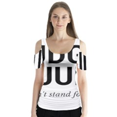 Judge Judy Wouldn t Stand For This! Butterfly Sleeve Cutout Tee